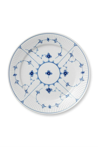 Blue Fluted Plain Dinner Plate