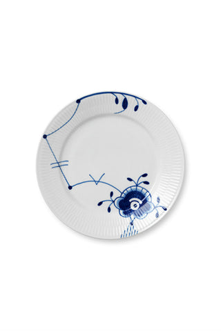 Blue Fluted Mega Salad Plate