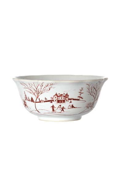 Juliska Country Winter Frolic Ruby Cereal Bowl