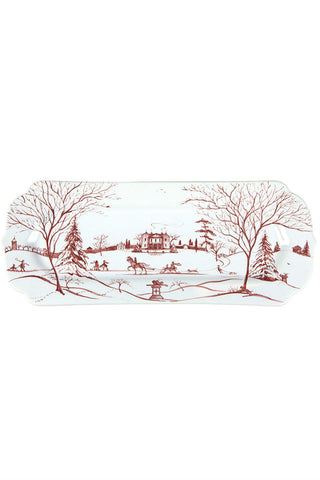 Juliska Country Estate Winter Frolic Ruby Hostess Plate