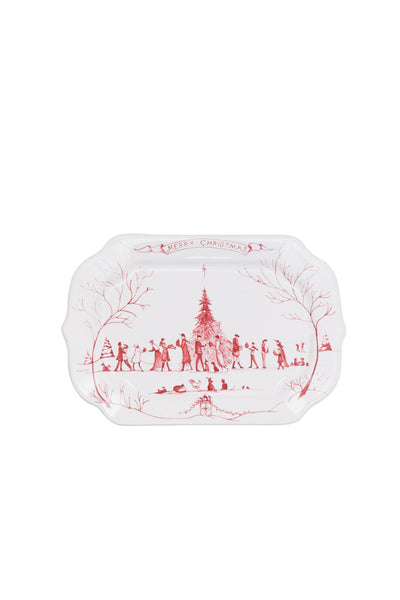 Juliska Country Winter Frolic Ruby Merry Christmas Gift Tray