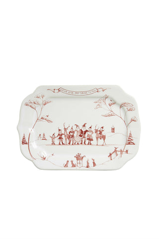 Juliska Country Winter Frolic Ruby Love and Joy Gift Tray