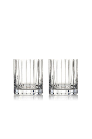 Rogaska Crystal  Avenue Double Old Fashioned Pair