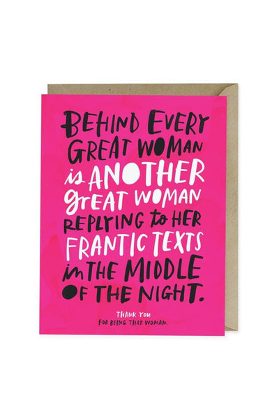 Every Great Woman Friendship Card