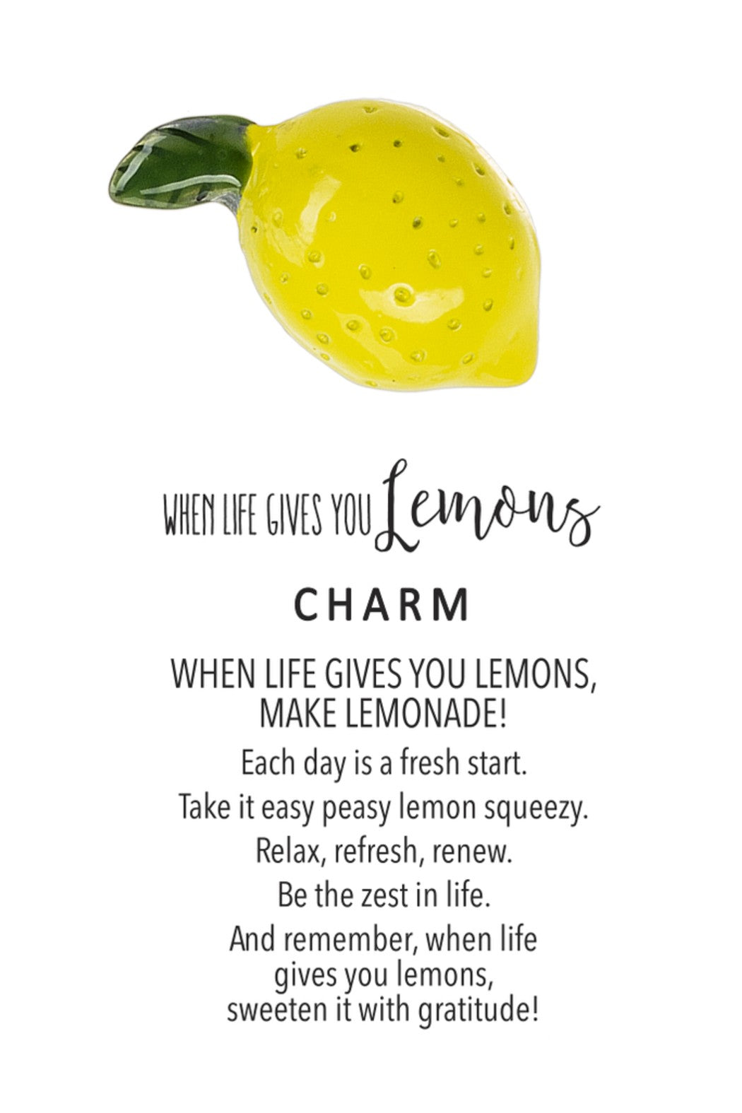 When Life Gives You Lemons Charm