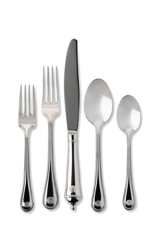 Juliska Berry and Thread Polished Stainless Steel 5pc Place Setting