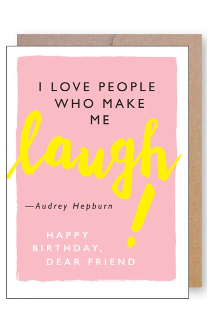 Laugh Birthday Card