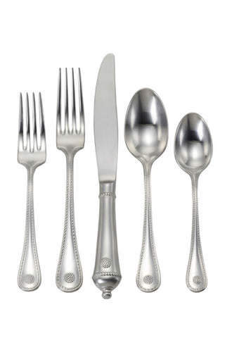 Juliska Berry and Thread Bright Satin Stainless Steel 5pc Place Setting