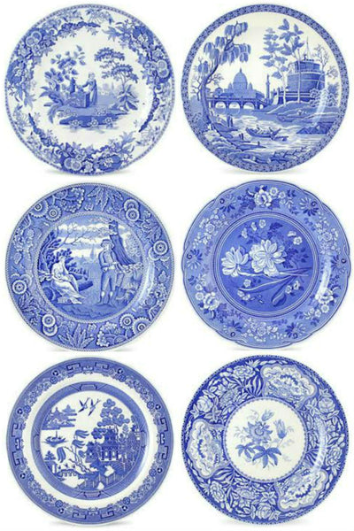 Spode Blue Room Set of 6 Georgian Plates