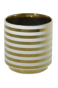 Gold Striped Pot - New Orientation  - 2