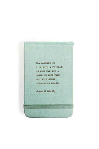 Gordon B. Hinckley Fabric Notebook