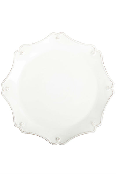 Juliska Berry and Thread Whitewash Scallop Charger Plate