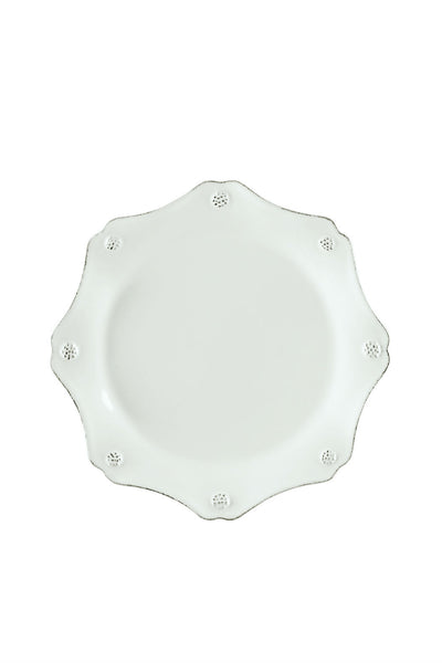 Juliska Berry and Thread Whitewash Scallop Salad Plate - New Orientation