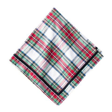 Juliska Stewart Tartan Set of 4 Napkins
