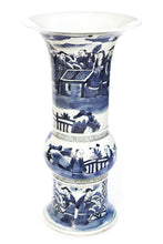 Load image into Gallery viewer, Beaker Vase - Blue and White Porcelain - New Orientation - 1