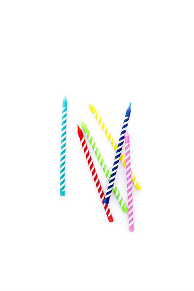 Stripey Party Candles - New Orientation
