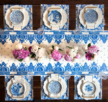 Load image into Gallery viewer, China Blue Paper Table Runner