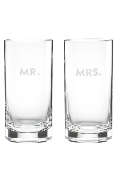 Kate Spade Mr. and Mrs. Highball Glasses