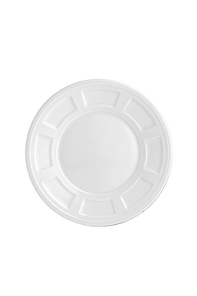 Bernardaud Naxos Salad Plate white everyday dishes - New Orientation