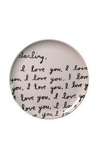 Darling, I love you... Melamine Plate