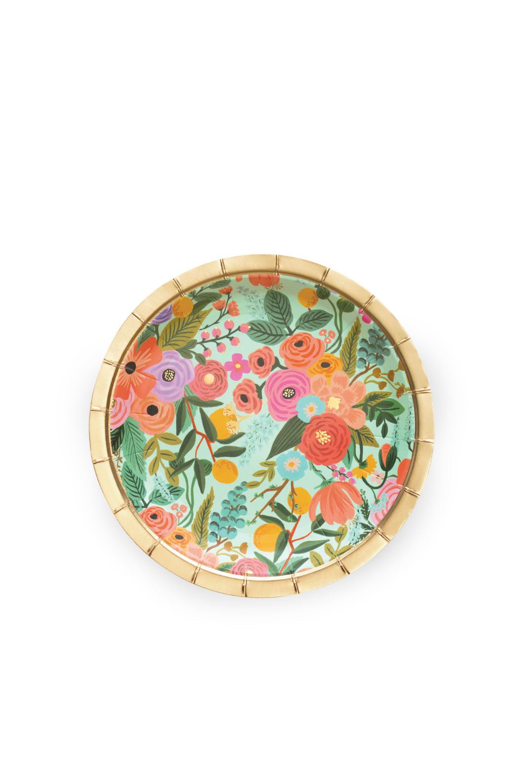 Rifle Paper Garden Party Plates Floral Paper Plate Blue Gold