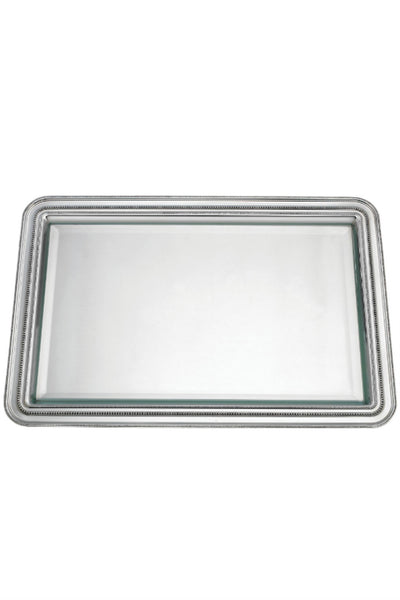 Reed & Barton Heritage Banded Bead Pewter Tray