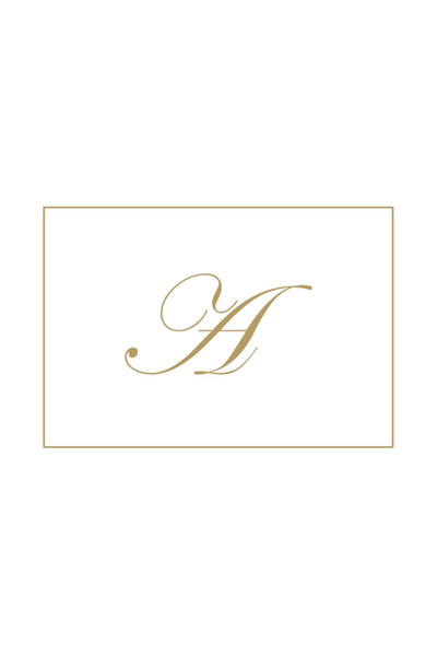 Gold Embossed Initial Note Cards