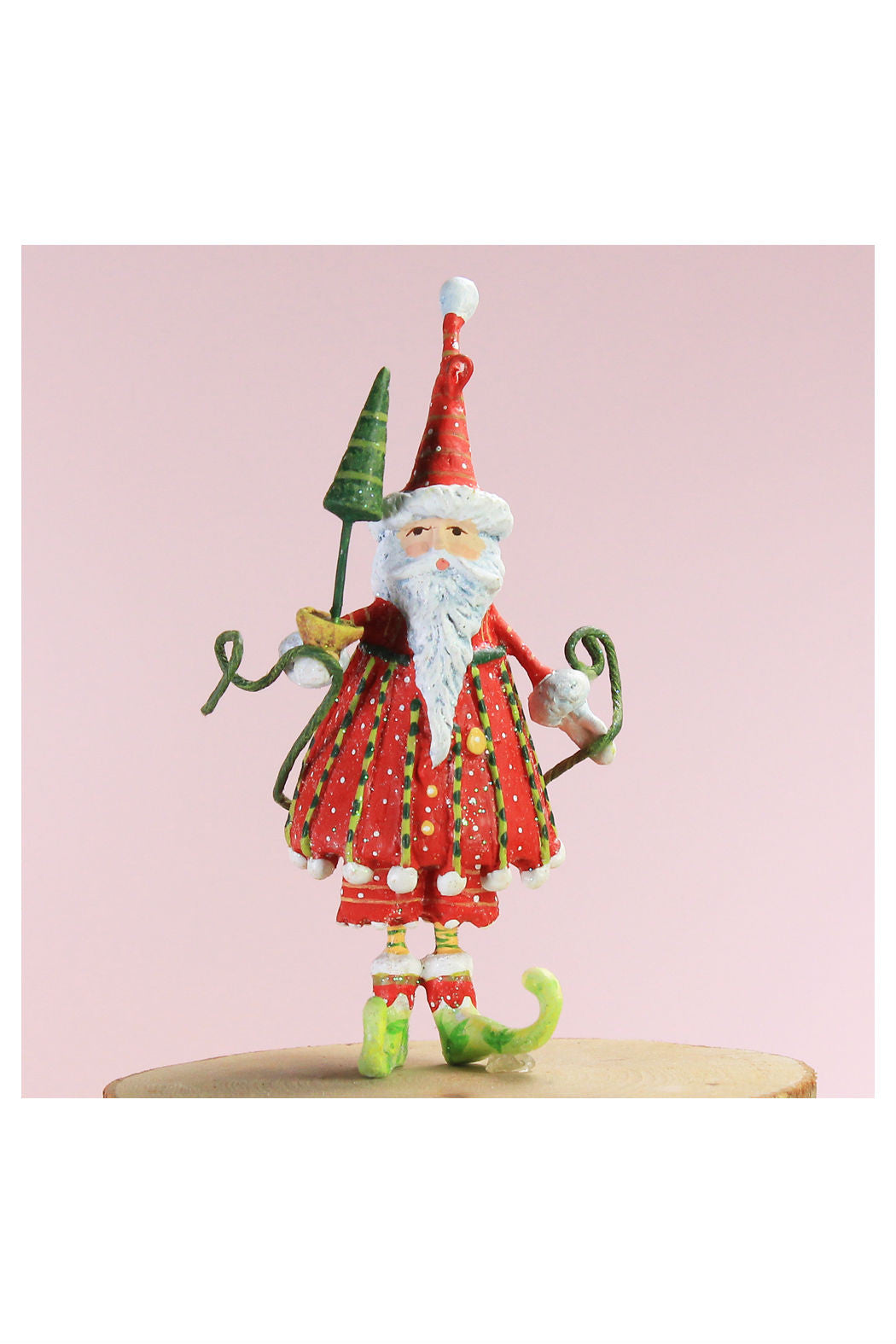 Dash Away Mini Santa Ornament - New Orientation  - 1