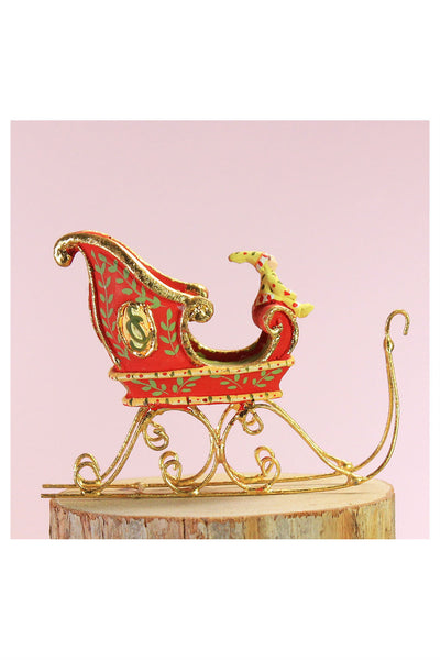 Patience Brewster by MacKenzie-Childs, Dash Away Mini Sleigh Ornament