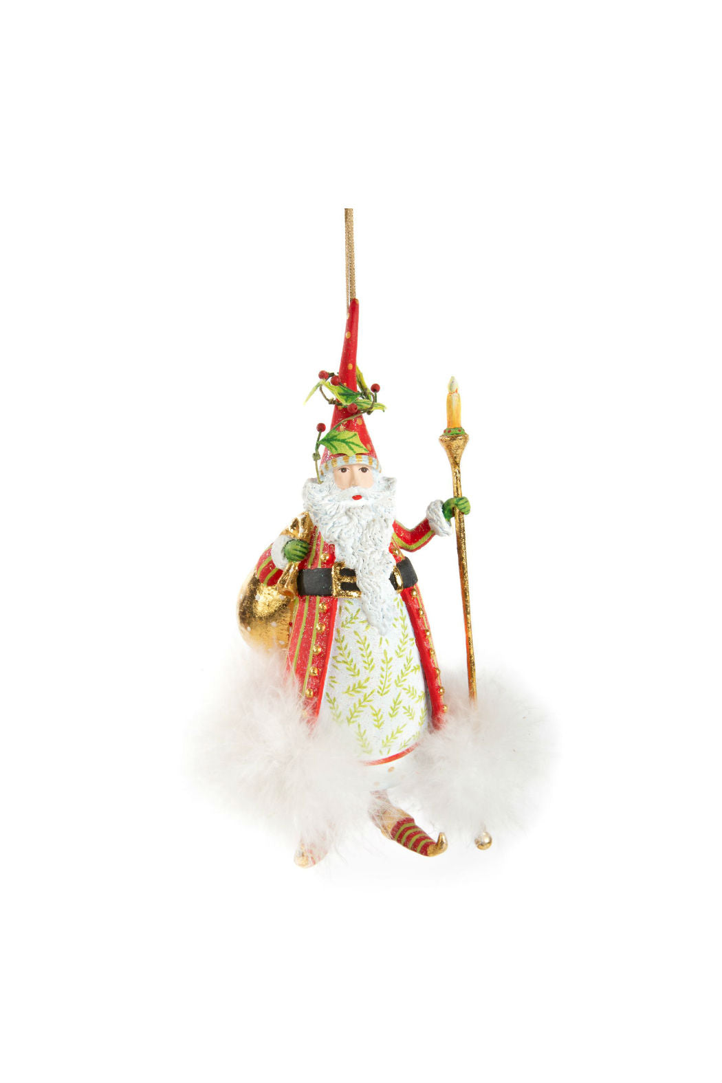 Patience Brewster by MacKenzie-Childs Dash Away Santa Ornament