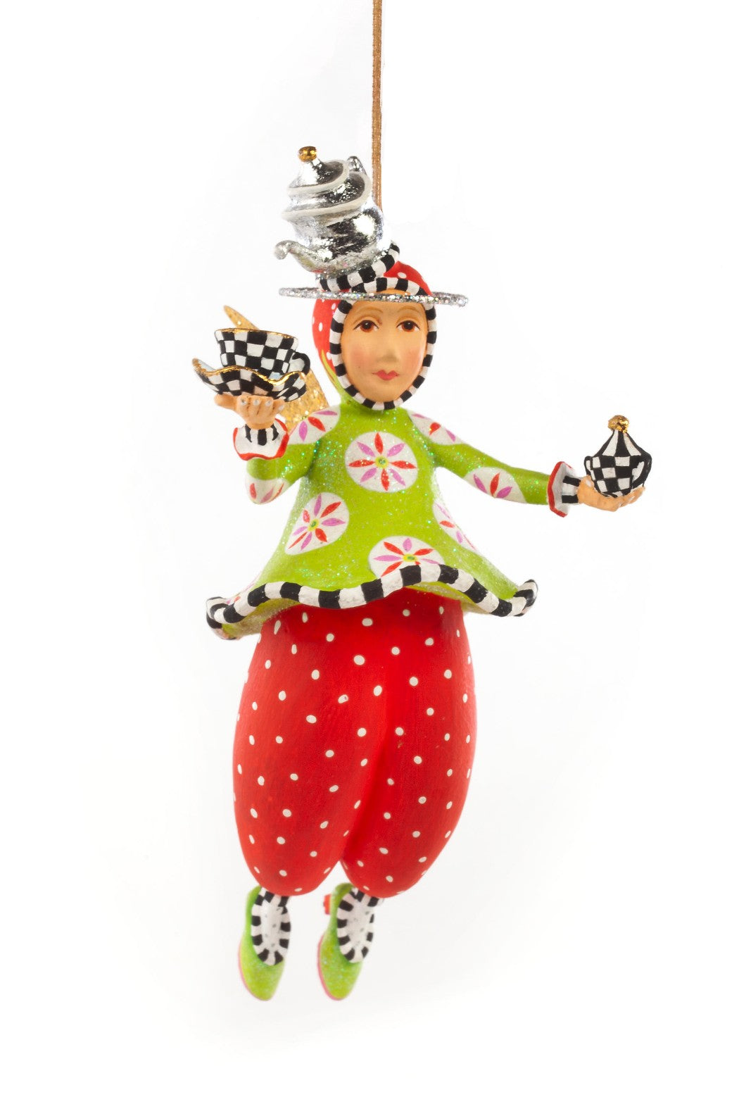New Introduction - Patience Brewster by MacKenzie-Childs Paradise in a Cup Angel Mini Ornament