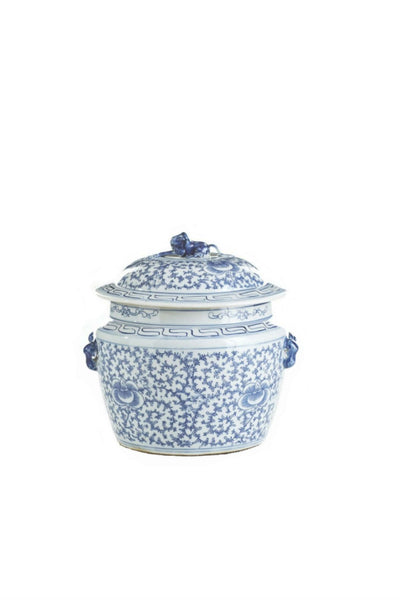 Blue & White Lidded Rice Jar