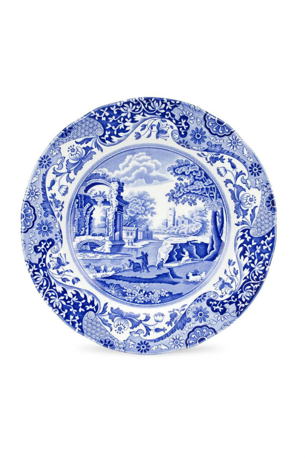 Spode Blue Italian Dinner Plate, Set of Four with Free Shipping