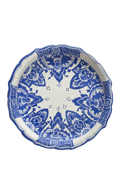 China Blue Paper Dinner Plates