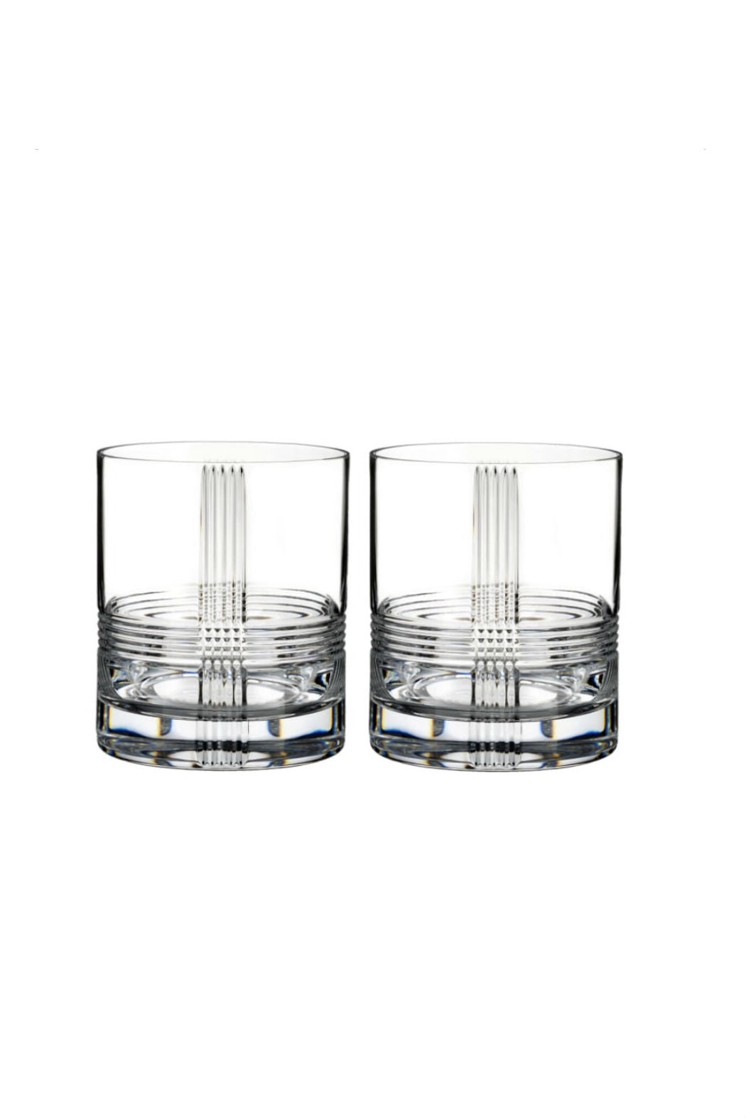 Rogaska Crystal Fan Club Double Old Fashioned Pair