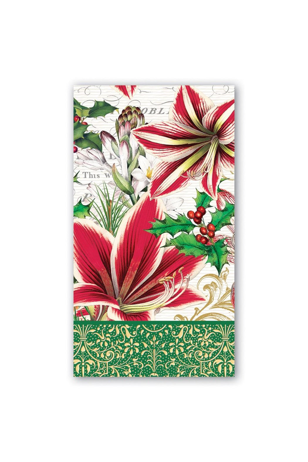 Amaryllis Hostess Napkin
