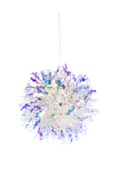 Light Up Iridescent Snowball Ornament