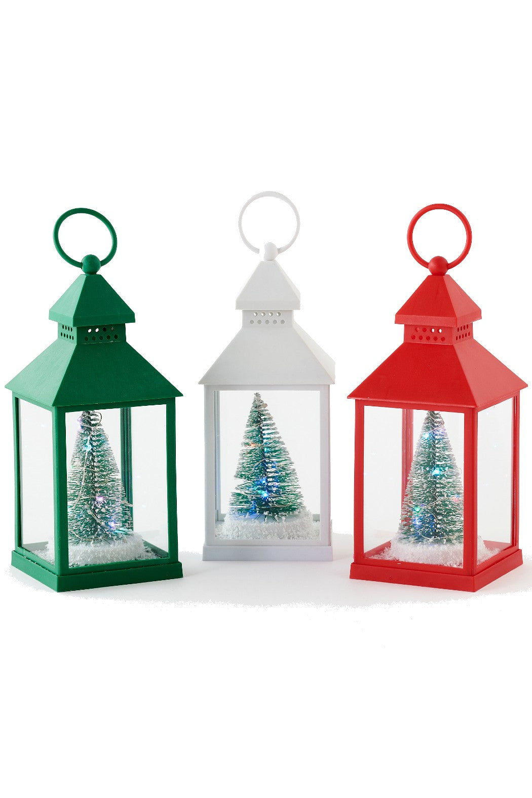 Lighted Christmas Tree Lantern