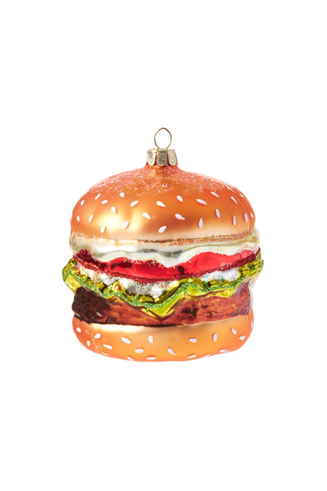 Hamburger Glass Ornament