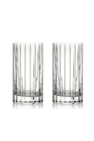 Rogaska Crystal Avenue Hiball Pair