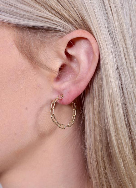 Vallie Chain Link Hoop Earring