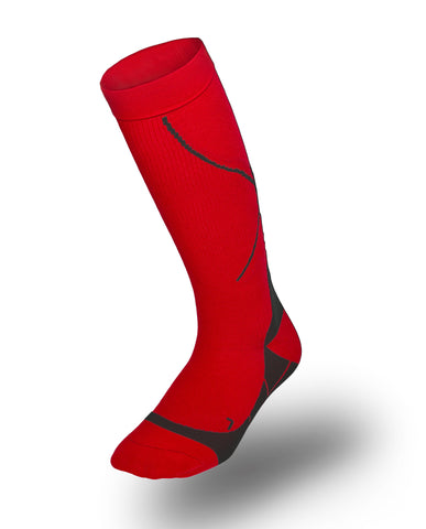 TAC Compression Socks (Fiery Red)