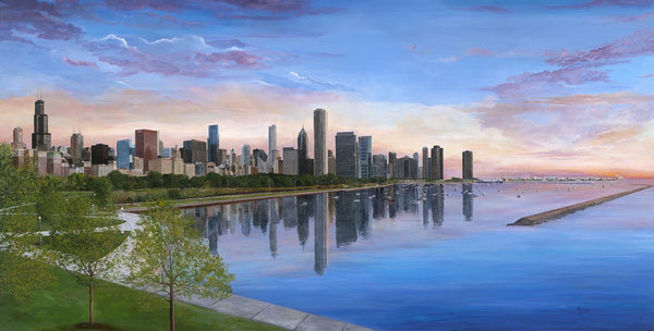 Burnham's Vision-Chicago-Dawn-Skyline
