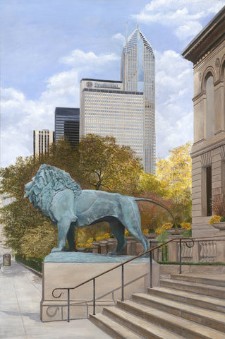 On The Prowl-Chicago-Art Institute-Lion