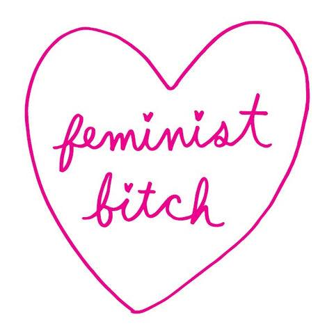 Temporary Tattoo - Feminist Bitch - Designed by Ambivalently Yours