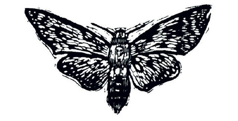 Temporary Tattoo - Moth Design