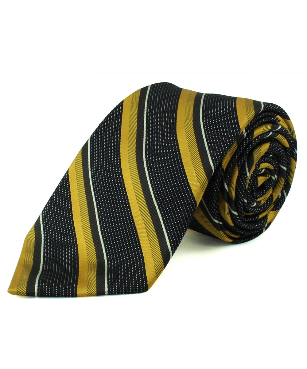Gold/Grey Textured Multi Stripe