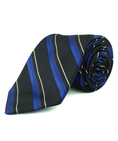 Blue/Grey Textured Multi Stripe Tie