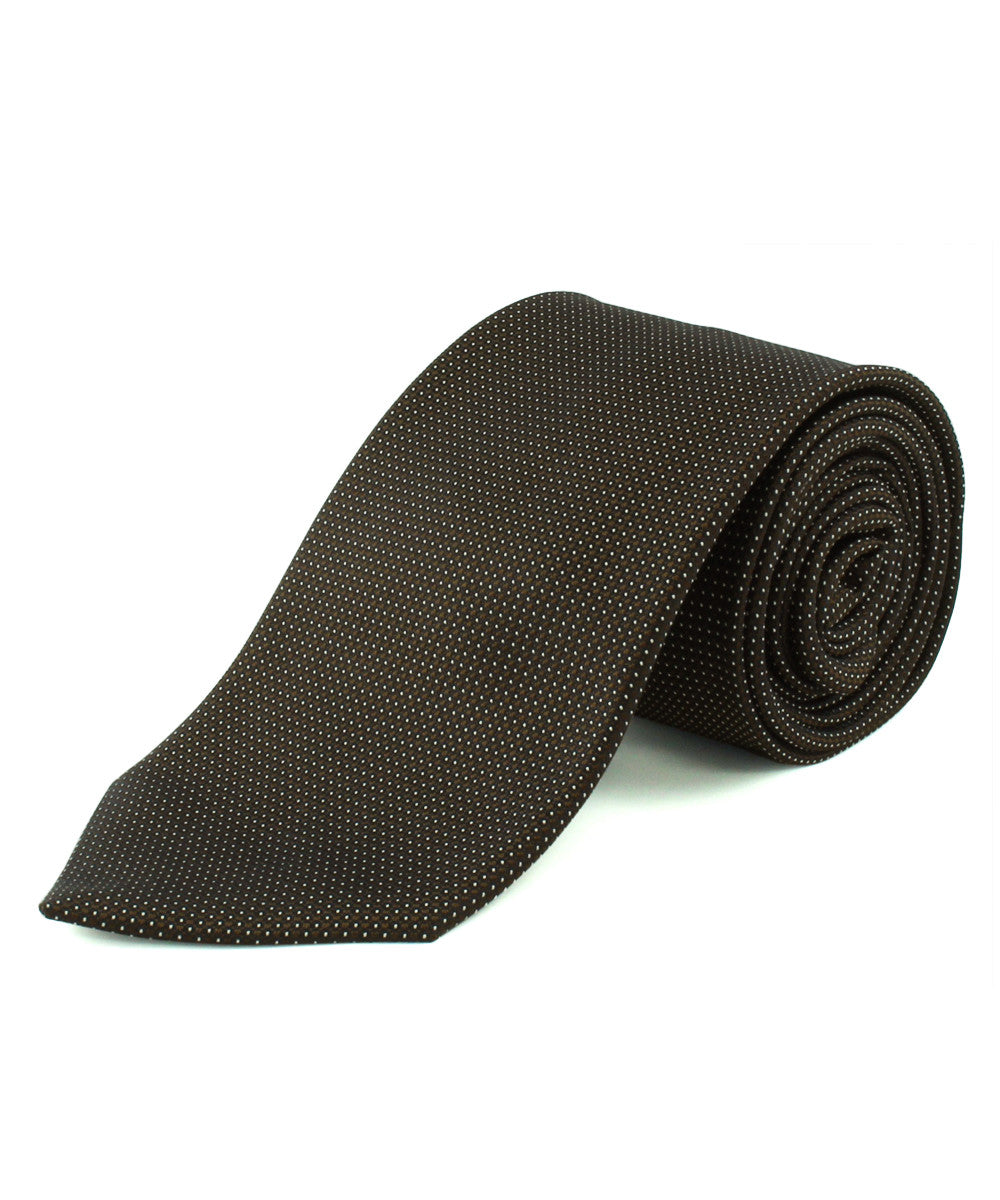 Brown Micro Dot Tie