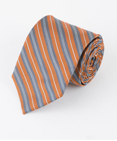 Rust Thin Multi Stripe  <br />   * made in Italy  *